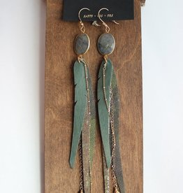 Bohemi Quetzal Earrings
