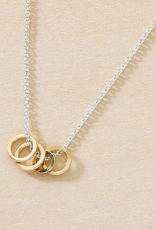 Freshie & Zero Cluster Necklace with Gold Rings