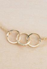 Freshie & Zero Cartwheel Necklace Gold