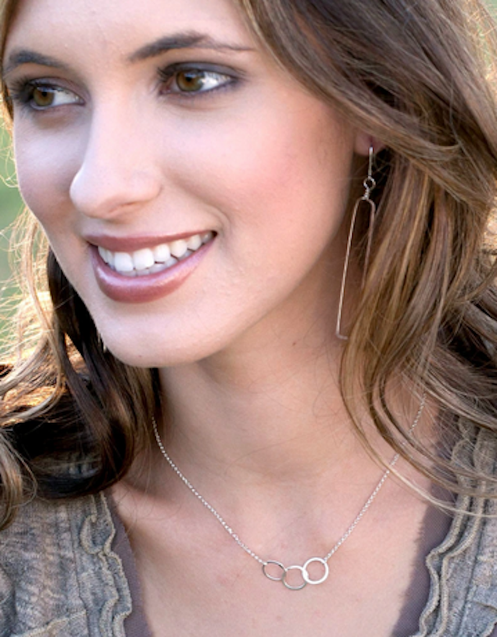 Freshie & Zero Cartwheel Necklace Silver