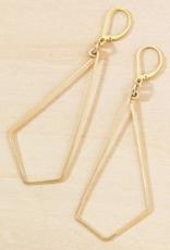 Freshie & Zero Gold Geode Earrings