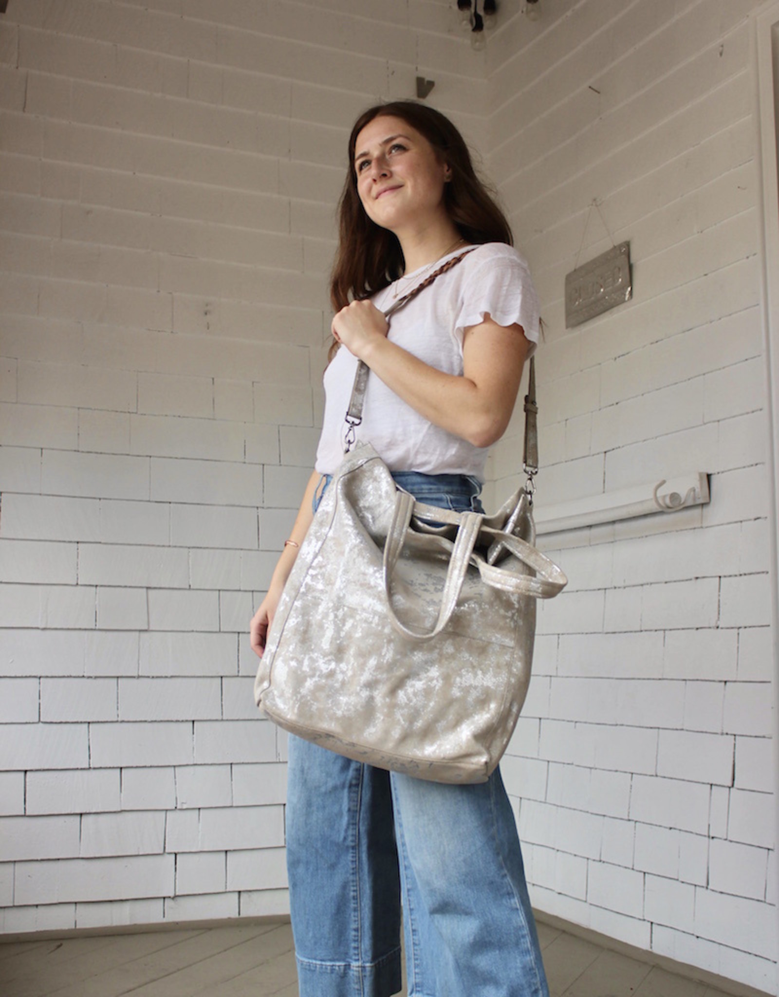 The Henson Bag in Stone