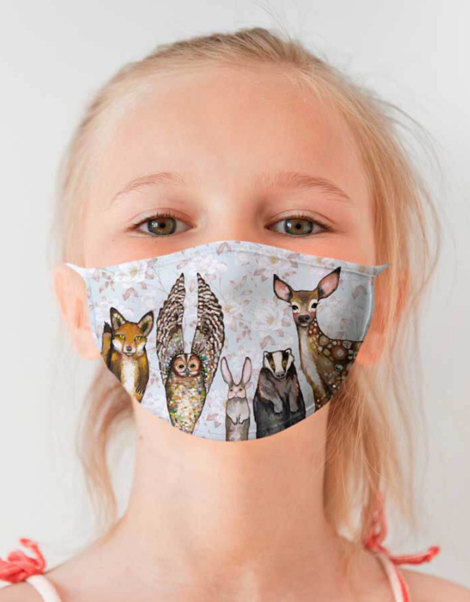 Forest Animals Floral Face Mask