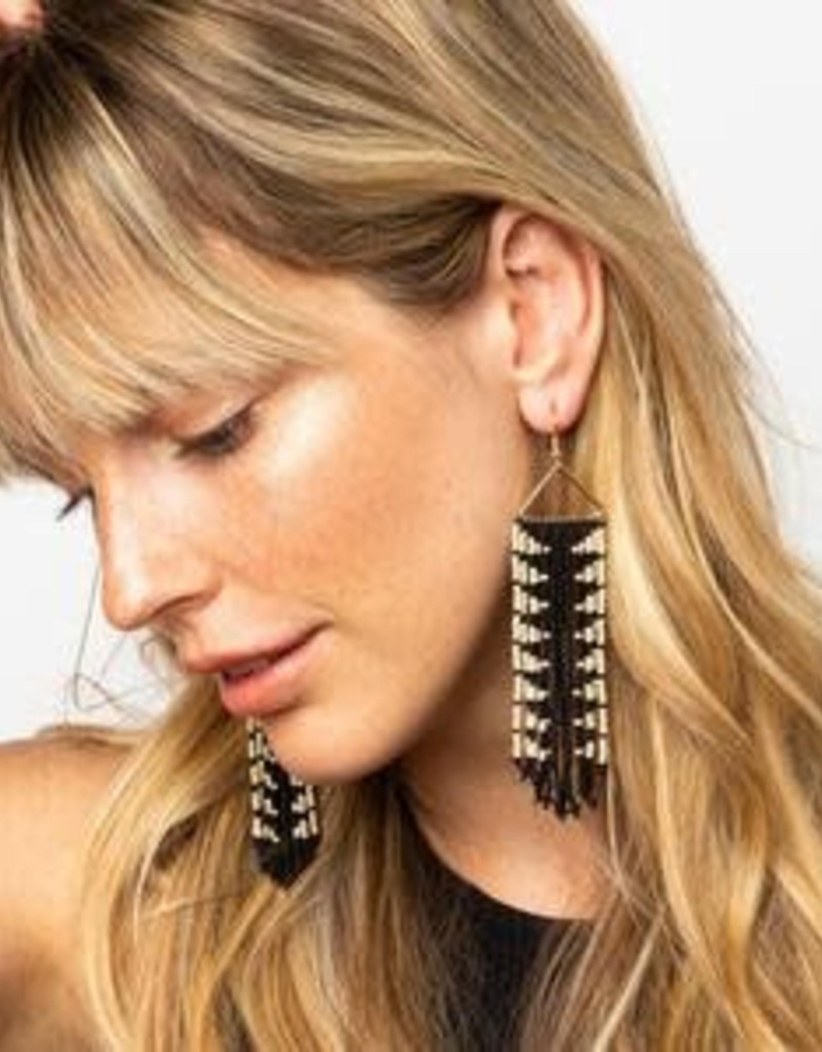 Black + Ivory Arrow Earrings