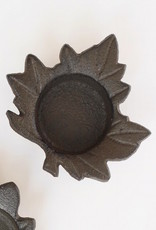 Cast Iron Leaf Tealight Holder