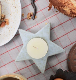 Stoneware Star Tealight Holder