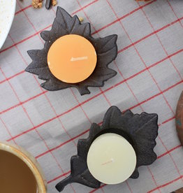 Cast Iron Leaf Tealight Holder
