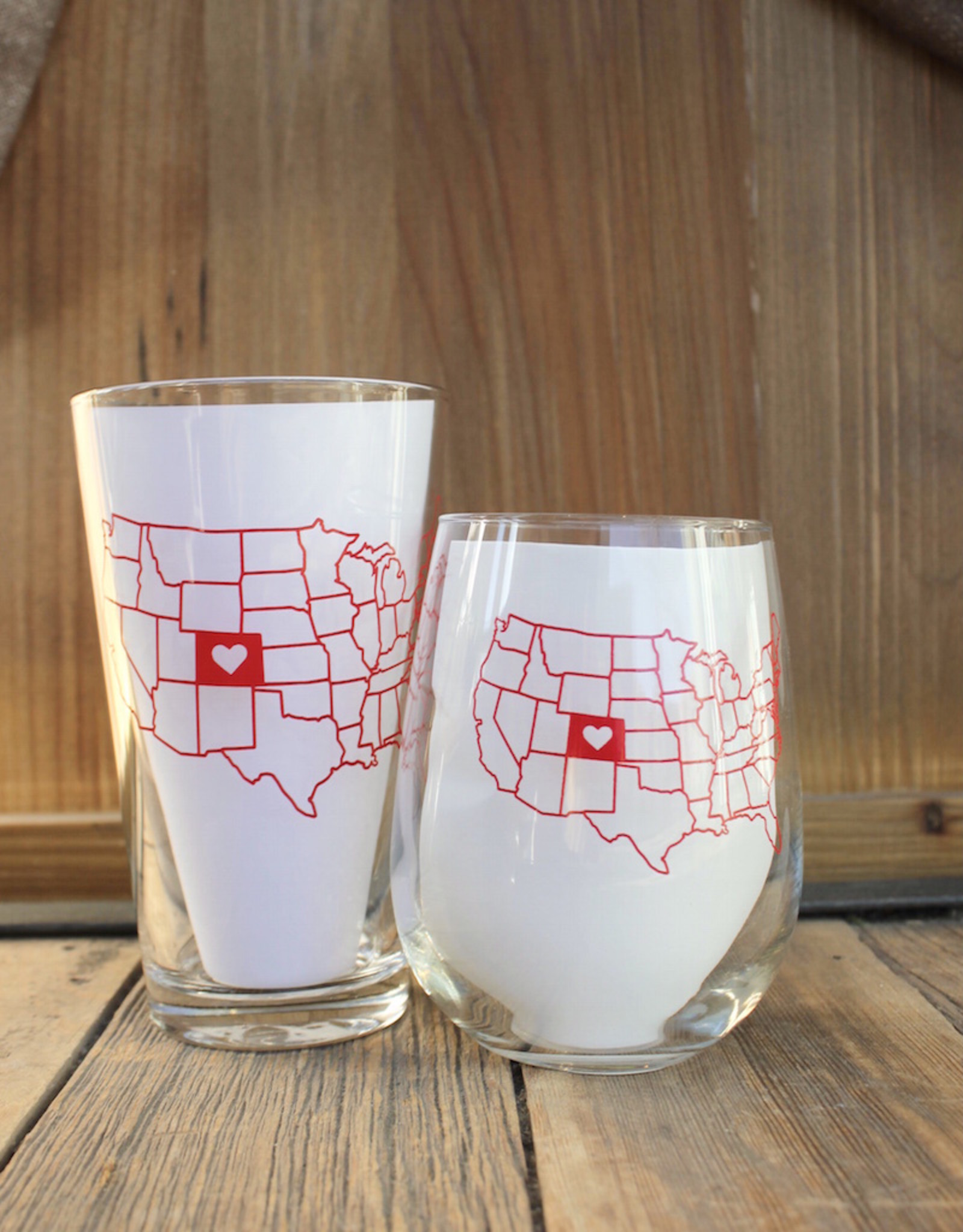 Colorado Love Glass - Red