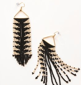 Black + Ivory Arrow Earrings