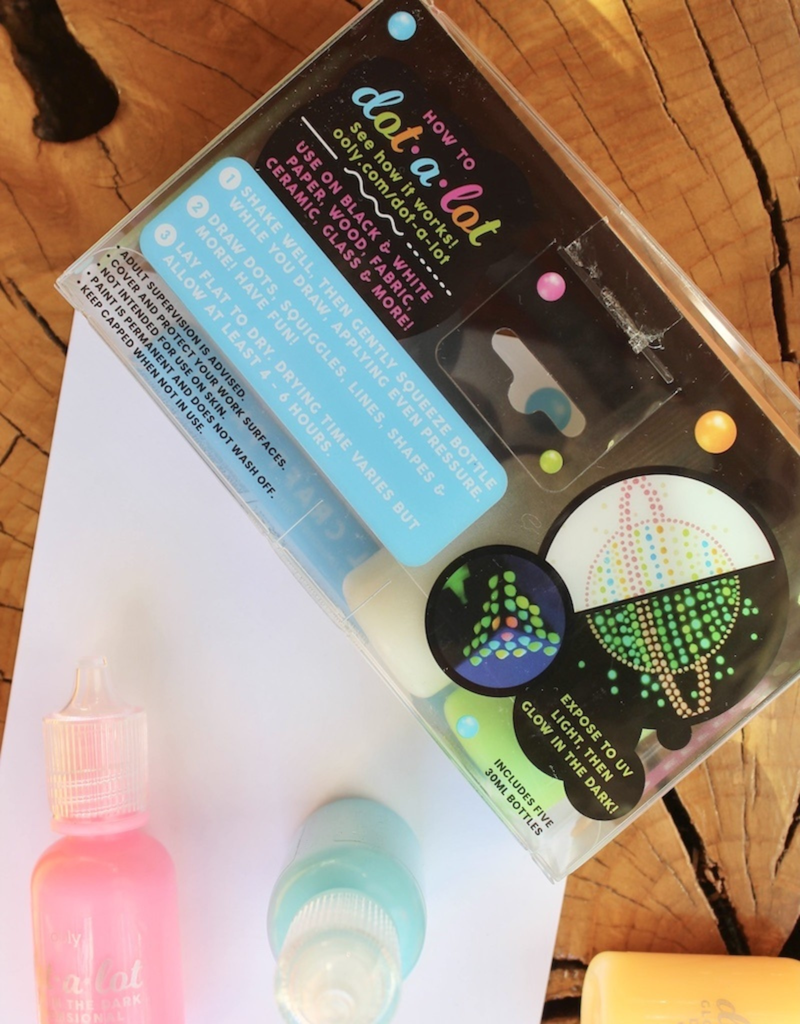 Glow In The Dark Dot-A-Lot Dimensional Craft Paint