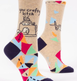 *explicit* Blue Q Womens Crew Socks You Crafty Bitch