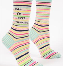 Blue Q Womens Crew Socks shhh....I'm overthinking