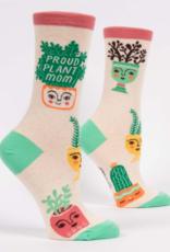 Blue Q Womens Crew Socks Proud Plant Mom