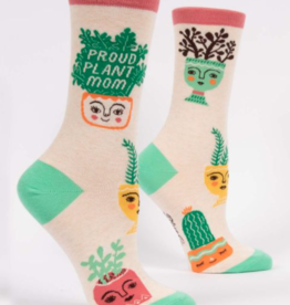 Blue Q Womens Crew Socks Proud Plant Mom