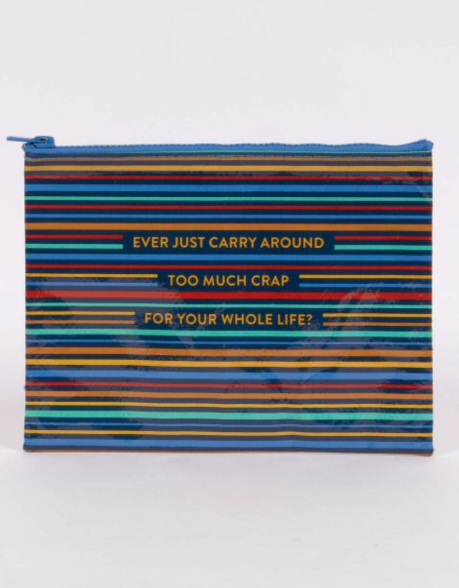 Blue Q Zipper Pouch carry Around Too Much Crap