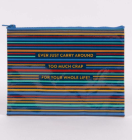 Blue Q Zipper Pouch carry Around Too Much Crap