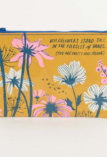Blue Q Zipper Pouch Wildflowers Stand