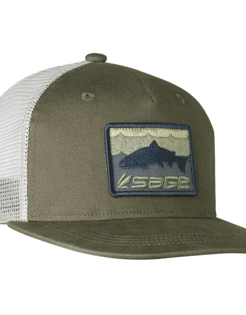 Sage Patch Trucker Green
