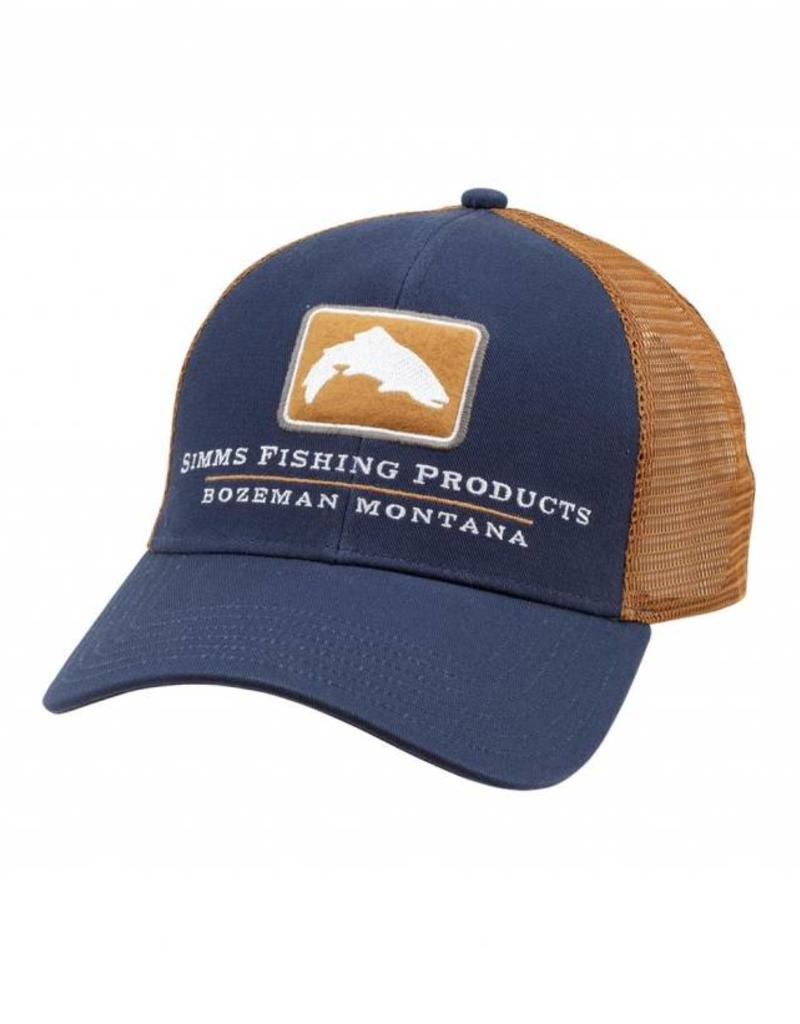 Simms F18 SIMMS TROUT ICON TRUCKER ADMIRAL BLUE