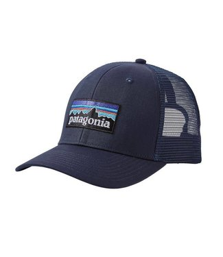 Patagonia Patagonia P-6 Logo Trucker Hat Navy Blue w/Navy Blue ALL