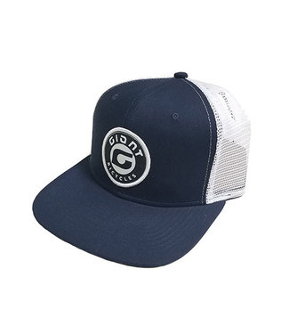 Giant Hat Giant Round Logo Blue