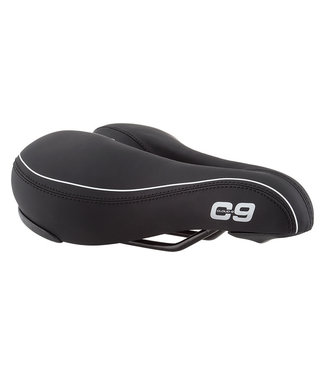 CLOUD-9 Saddle C9 Comfort Airflow Soft Touch Vinyl Black