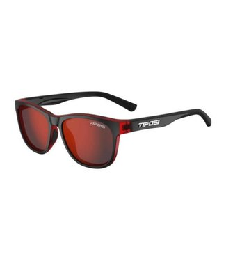 Tifosi Tifosi Swank, Crimson/Onyx Smoke, Red Lens Sunglasses