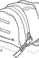 Blackburn Bag Blackburn Central Small Seat Bag Charcoal