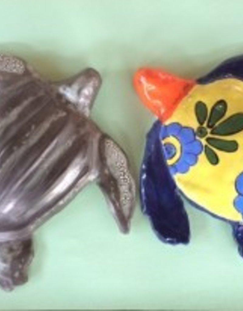 Ceramic Guardian Turtle w/ Personalized Plaque