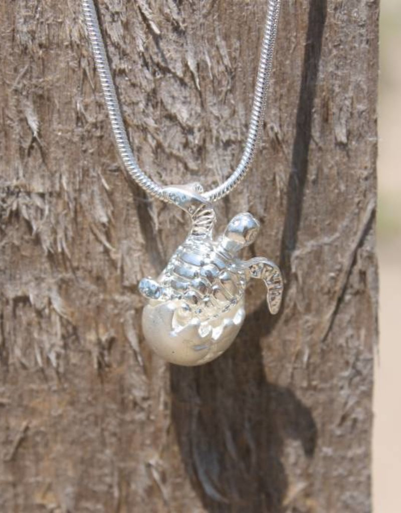 Hatchling Turtle Egg Necklace