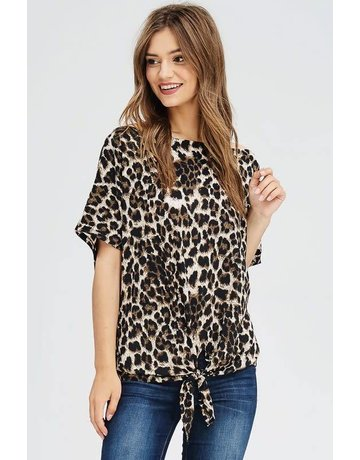white birch Dolman Sleeve Cheetah Top