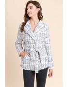 Plaid Shawl Jacket