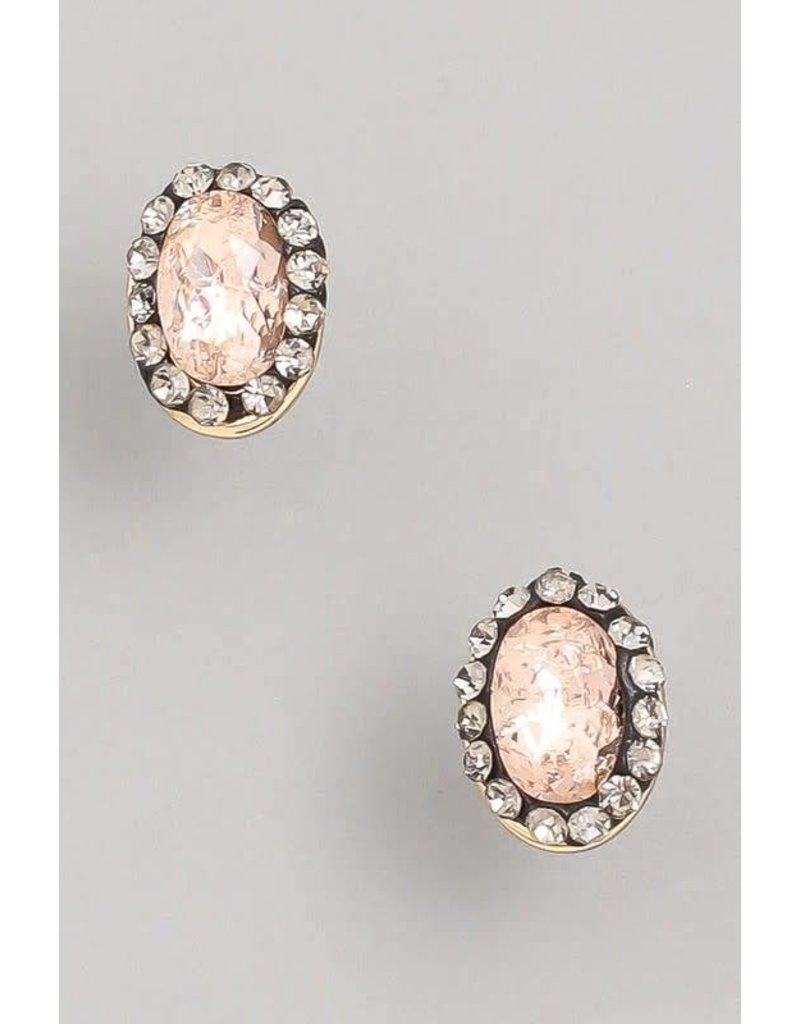 Small Rhinestone Stud Earrings