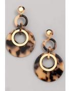 Acetate Tier Disc Drop Earrings