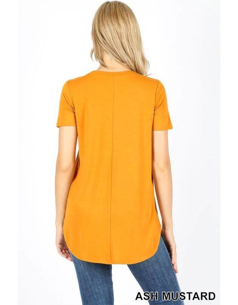 Short Sleeve Round Neck & Hem