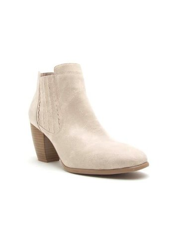 Distressed Side Detail Bootie