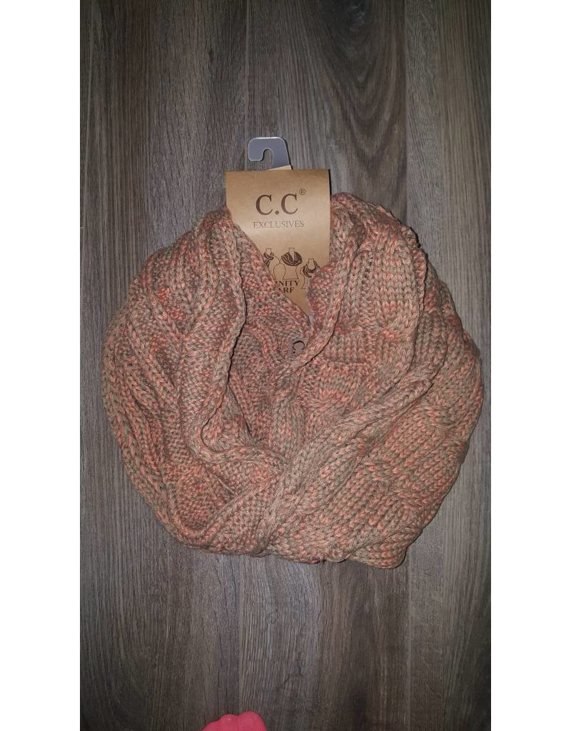C.C Two Toned Infinity Scarf