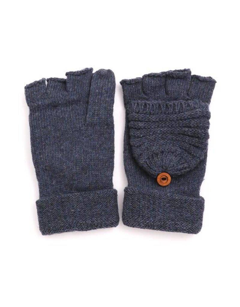 Knitted Popover Fingerless Gloves