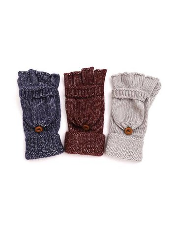 Knitted Popover Fingerless Gloves