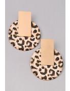 Animal Print Circle Earring