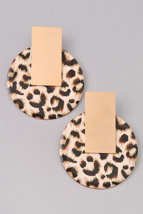 Animal Print Circle Earring