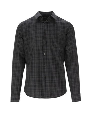L/S Checker Button Up