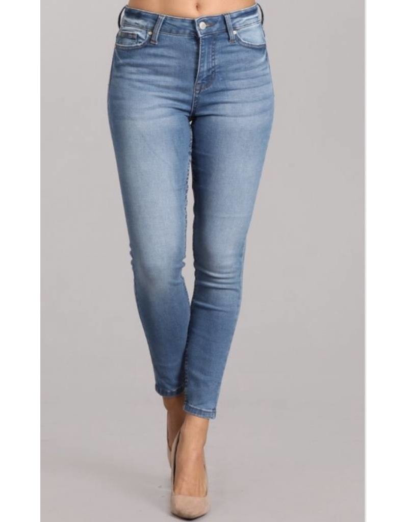 High Rise Ankle Skinny No Distress