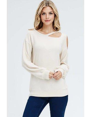 Shoulder Cutout Sweater