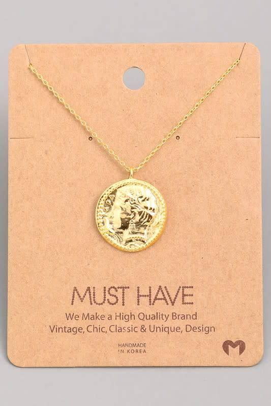 Ancient Coin Pendant Necklace