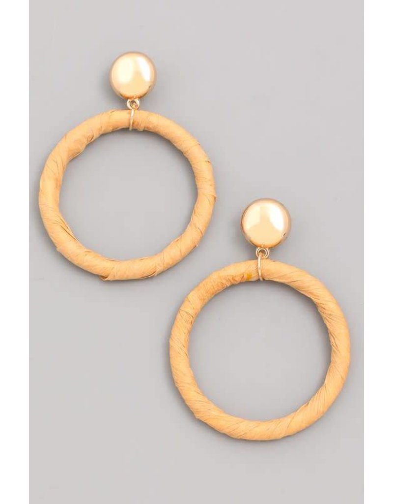 Circle Paper Hoop Dangle Earrings