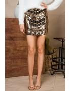 Sequin Mini Skirt With Zipper