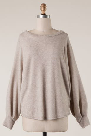 Two Toned French Terry Sweater