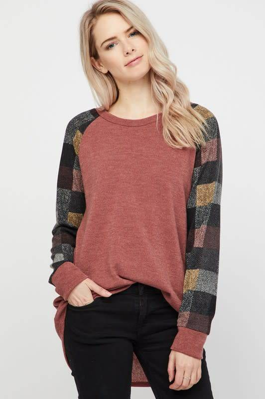 Solid Top w/Checkered Multi Checker Sleeves
