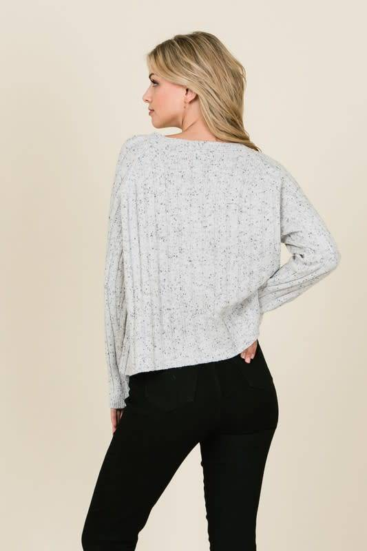 Lumiere Speckled Knit Sweater